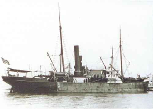 Albania 1933 Genova Nave del primo trasporto AIPA