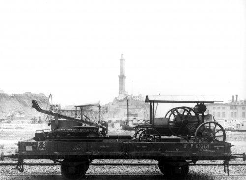 Albania 1933 Genova Trasporto ferroviario di materiale AIPA da imbarcare