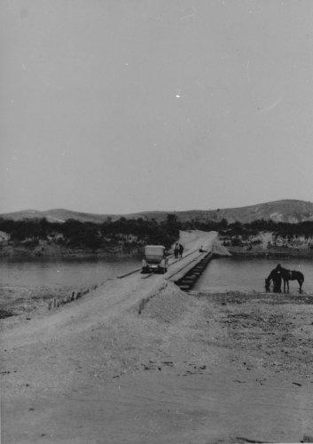 Albania 1934 Devoli Ponte di servizio dell'AIPA sul fiume Devoli