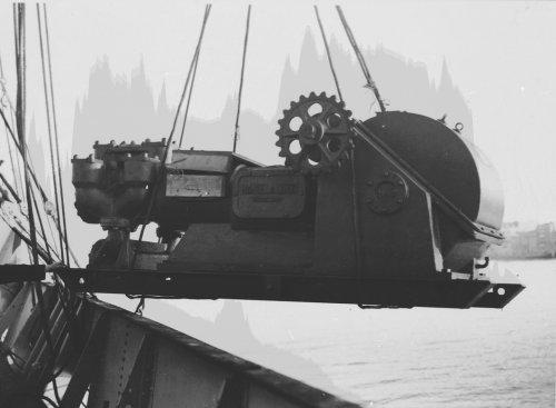 Albania 1934 Valona Scarico pompa fango