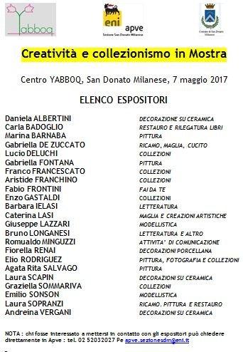 Immagine lista Espositori