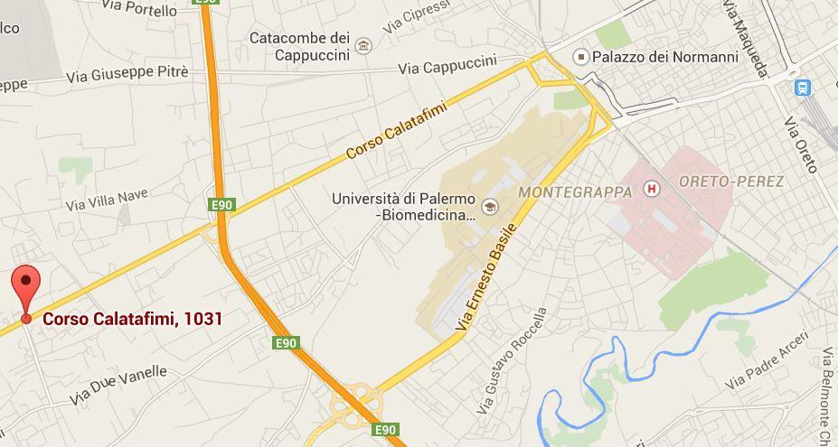 Cartina Ufficio Palermo
