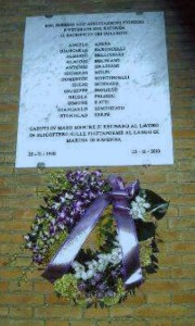 Targa incidente elicottero Ravenna